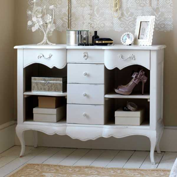 antique furniture painted white