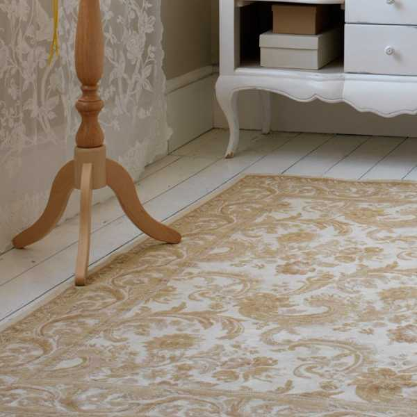floral designs on floor carpet