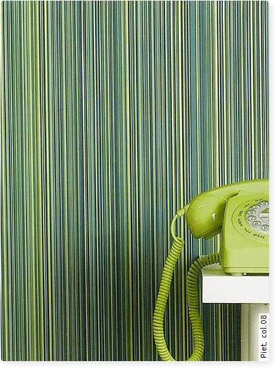 green stripes on wallpaper