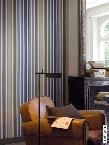 blue and gray stripes on wallpaper