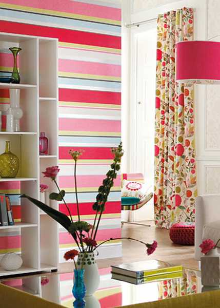 pink and green wallpaper pattern with stripes