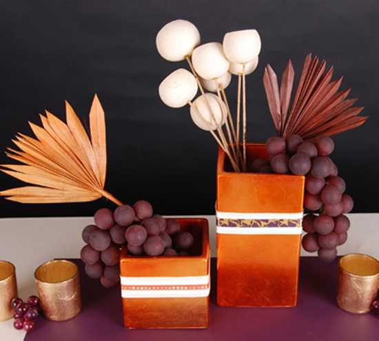 handmade thanksgiving centerpieces with grapes