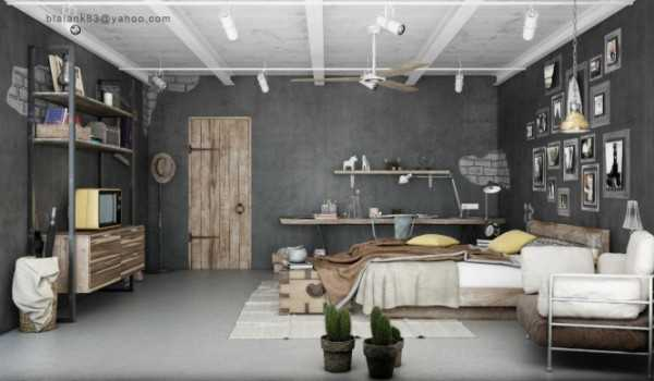 gray color and reclaimed wood for interior design