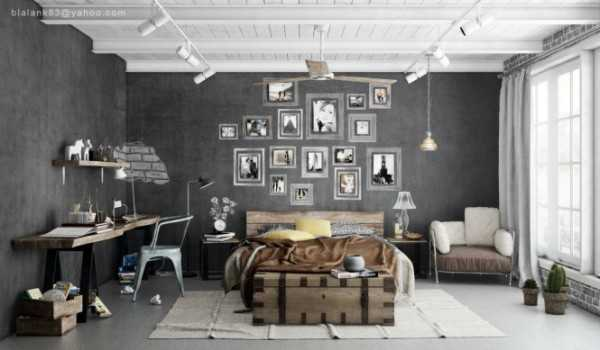gray wall paint with white picture frames