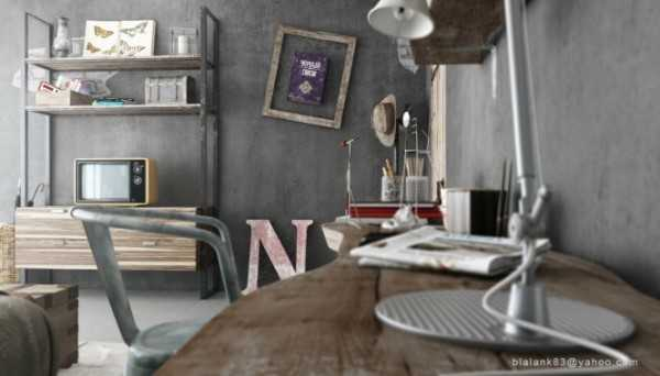 Cozy bedroom decorating with stylish gray colors by - Industrial style bedroom furniture ...