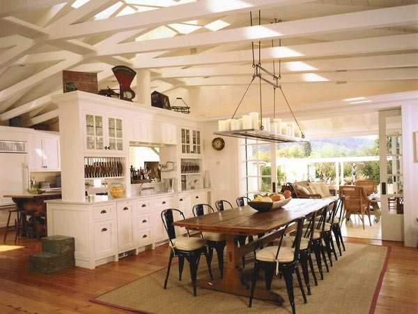 wooden dining furniture and country home style chandelier