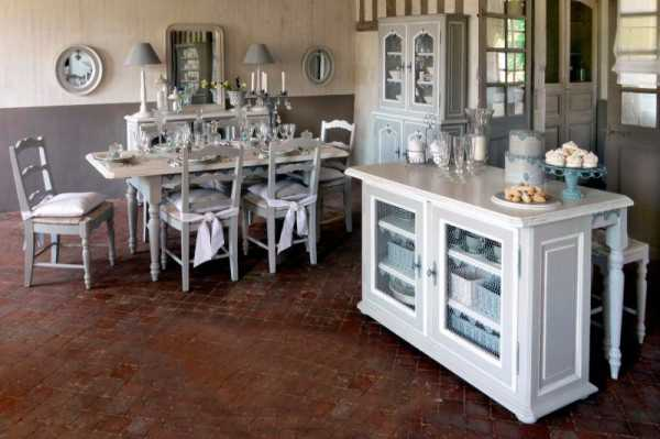 white dining furniture and dining room decorating ideas - Country Style Dining Room Sets