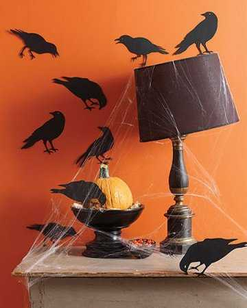 black crow wall stickers