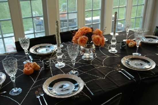 Halloween Party Decorations And Table Setting