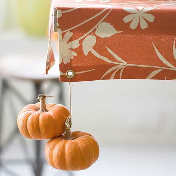 paper mache pumpkins for table decoration