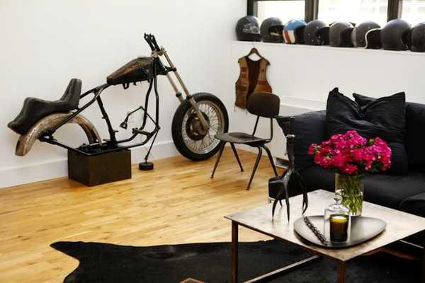 motocycle and helmet collection in black color
