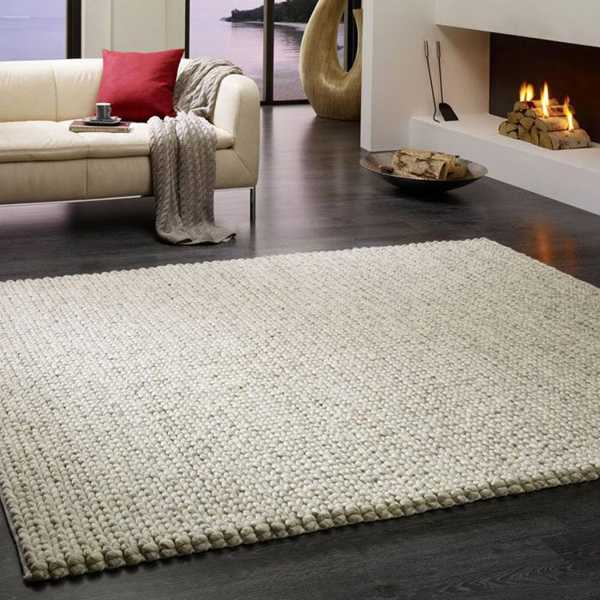 knitted floor rug