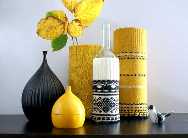 15 ways to add knitted decor to your winter home decorating - Decorative items for home ...