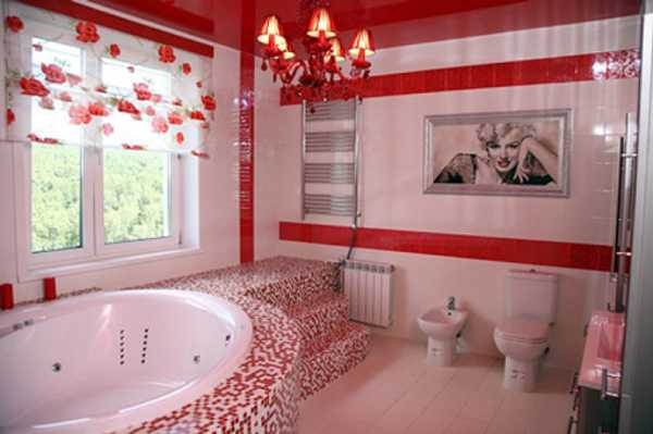 red bathroom decorating