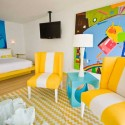 blue and yellow room decorating color combination