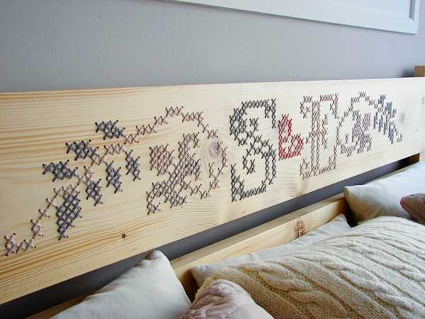 Handmade Furniture and Home Decor Items Reinventing Cross Stitching