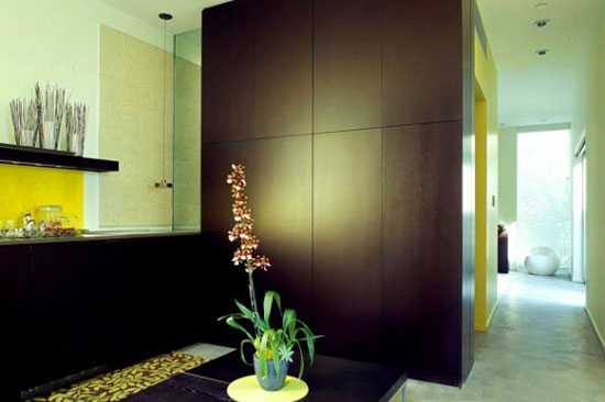 brown wood wall panels