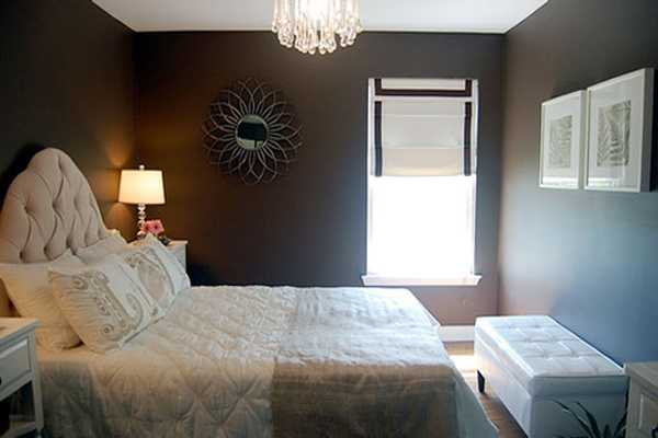brown wall paint for bedroom decorating