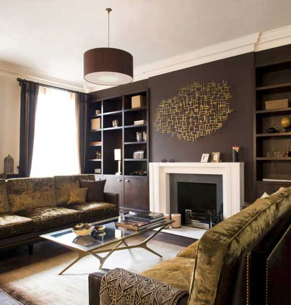 Chocolate brown interior colors and comfortable interior Chocolate colour wall paint