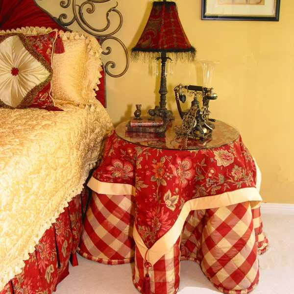 red and yellow french country home decorating ideas