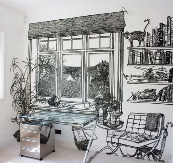 window and wall shelves drawings