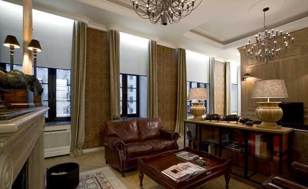 vintage furniture for living room in modern style
