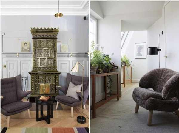 unique vintage furniture and stove