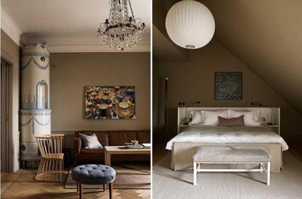 modern bedroom decor in vintage style