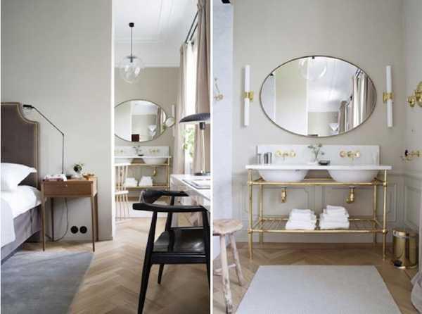 bathroom design in vintage style