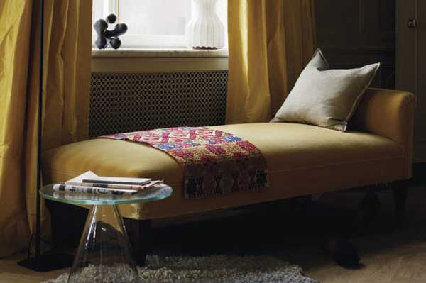 yellow curtain and furniture upholstery fabric for bedroom decorating