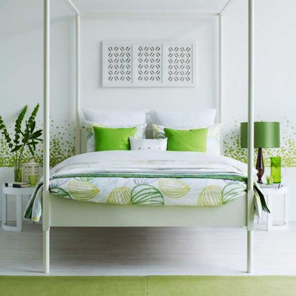 Black And White Bedroom Decorating Ideas Stylish Lighting Decor Accessories Green With Four Post Bed