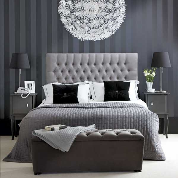 ... Ideas Blending Modern Color And Style. Black And White Bedroom  Decorating