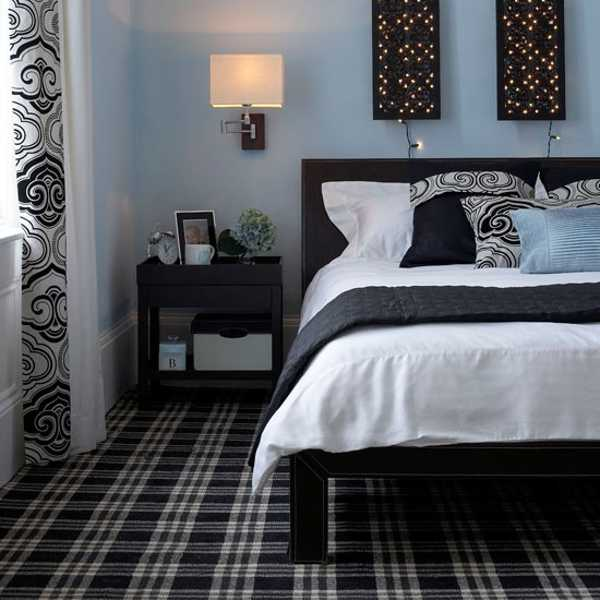 black and white bedding and bedroom decor accessories
