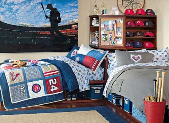 Baseball Themed Bedroom Decorating Ideas