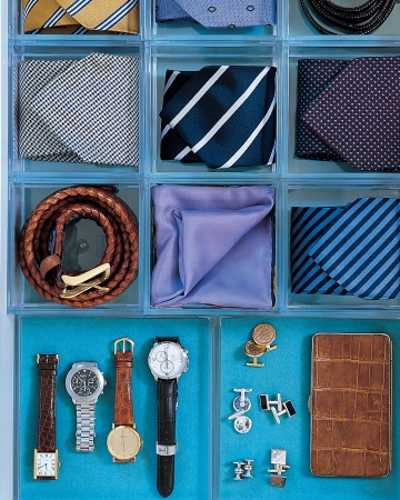 plastic organizer for belts, watches and jewelry
