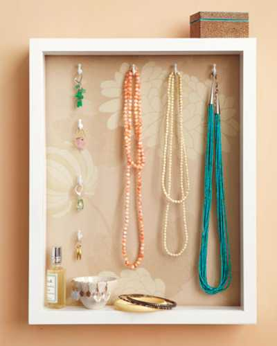 Handmade Jewelry Organizer Made Of Shadow Box