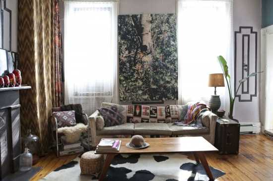 Boho chic home decorating ideas from fashion designer Boho chic living room