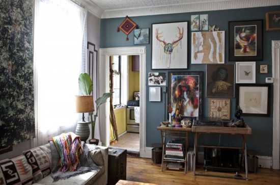 living room decorating in eclectic style