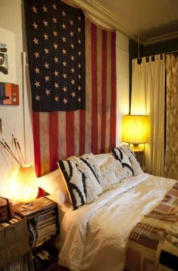 Boho chic home decorating ideas from fashion designer for American flag decoration ideas