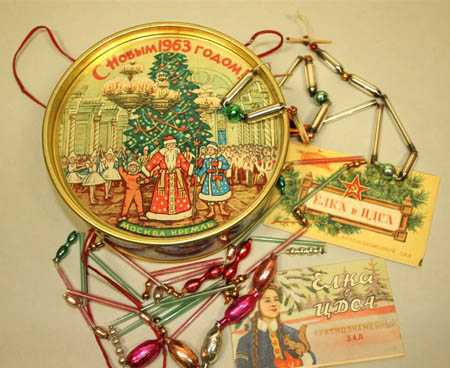 antique christmas tree decorations and garlands