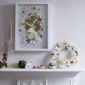 paper craft ideas, frame with deer for wall decoration