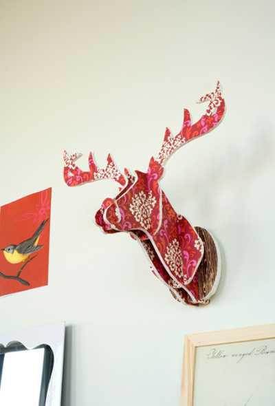 handmade deer decoration for wall