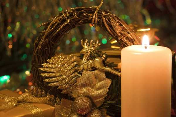 golden deer, christmas table decorating ideas