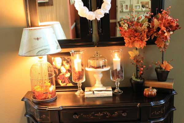 Cheap Home Decorating Crafts: Creative Fall Crafts, Autumn Leaves Tree For Thanksgiving