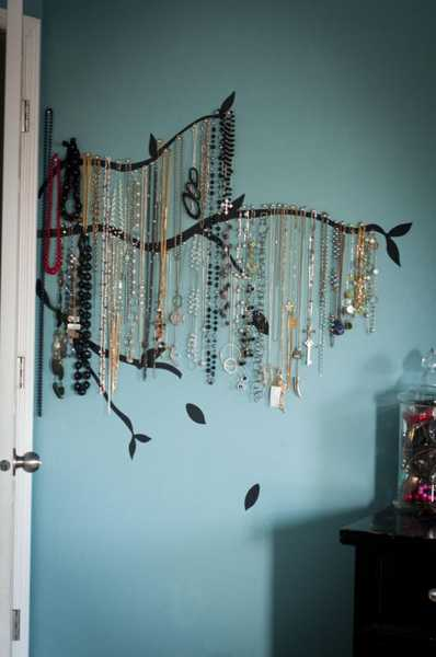 tree branches jewelry organizer