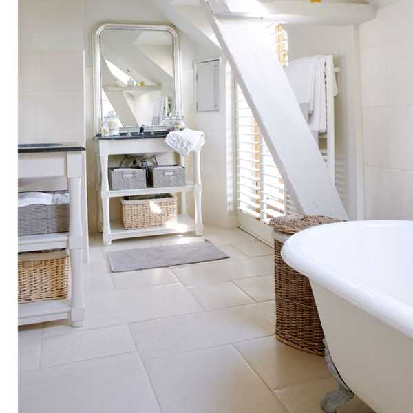 Modern French Bathroom: English Home Blending French Country Decorating Ideas Into
