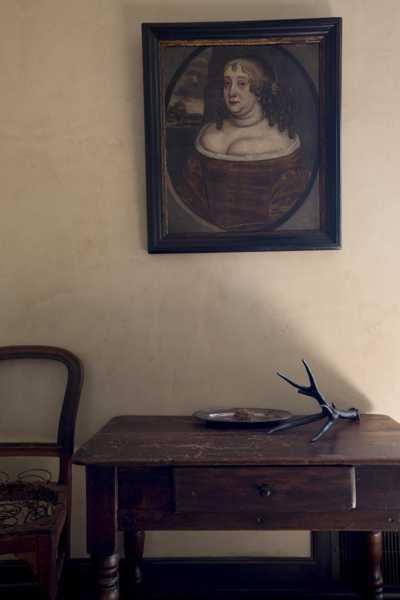 portrait and antique furniture