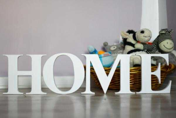 decorating with wooden letters home
