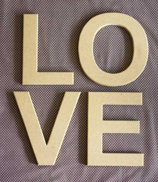wooden wall letters love