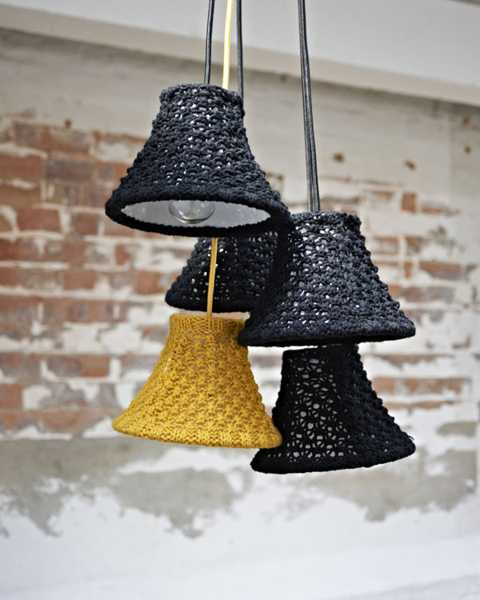 knitted lamp shades